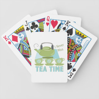 Tea Time Bicycle Playing Cards
