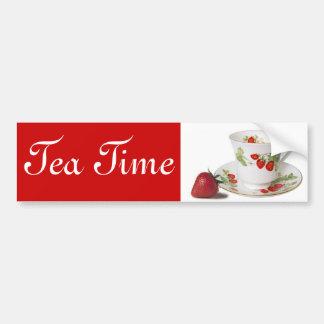 Tea Time bumper sticker Car Bumper Sticker