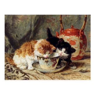 Tea Time by Henriette Ronner-Knip Postcard