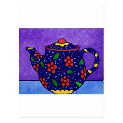 Tea Time by Piliero Postcard