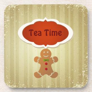 Tea Time & Christmas Gingerbread Man Coasters