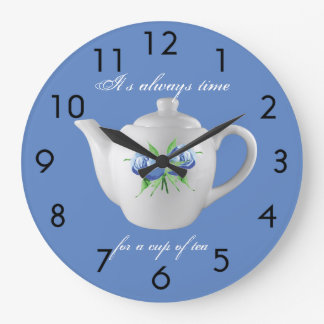 Tea Time Clock (Blue)