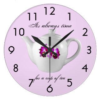 Tea Time Clock (Pink)