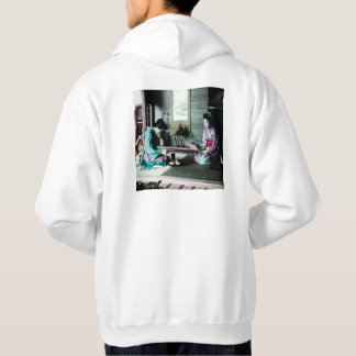 Tea Time for Two in Old Japan Vintage Geisha Sweatshirts