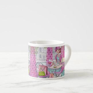 Tea Time Girl espresso mug Espresso Cup