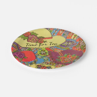 Tea Time Hats Paper Plate