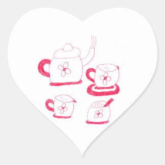 Tea Time Heart Sticker