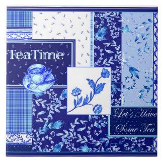 """Tea Time"" Large 6"" x 6"" Ceramic Tile"