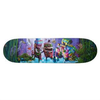 Tea Time Masquerade - Street Art Sk8 Deck 21.6 Cm Old School Skateboard Deck