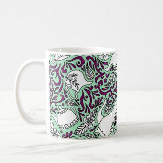 Tea Time Mint Green Coffee Mug