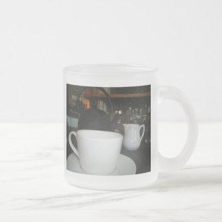 Tea time frosted glass mug