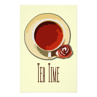Tea Time Personalized Stationery