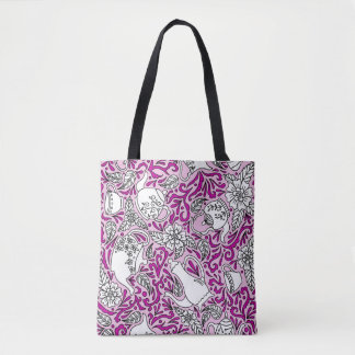 Tea Time Pink Tote Bag