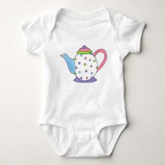 Tea Time Polka Dot Teapot Tea Party Teaparty Baby Bodysuit