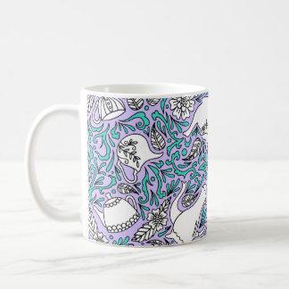 Tea Time Purple Coffee Mug