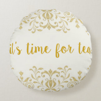 Tea Time Round Cushion