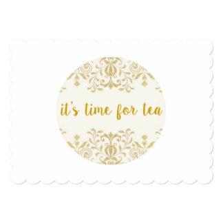 Tea Time Scalloped Invitations