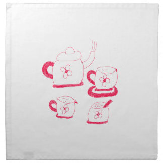 Tea Time Square Cloth Napkins