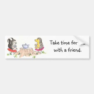 Tea time sticker bumper sticker