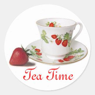 Tea Time stickers Round Sticker