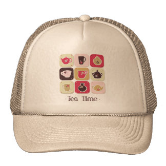 Tea Time Sweet Snack Desserts Happy Love Health Hat