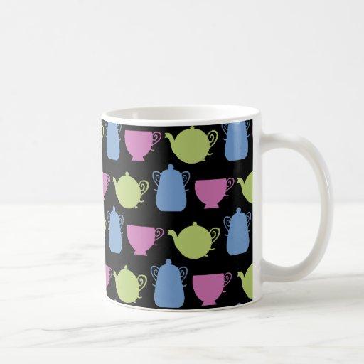 tea time: tea pots and cups coffee mugs