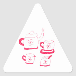 Tea Time Triangle Sticker