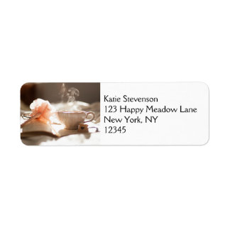 Tea Time with a good book Return Address Label