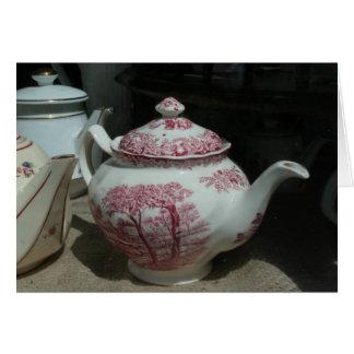 Tea Time with English Teapot Greeting card