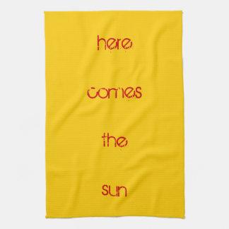 Tea towel - here comes the sun