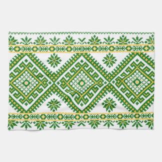 Tea Towel Ukrainian Cross Stitch Embroidery