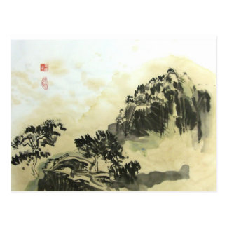 Tea Wash Landscape Postcard