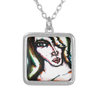Tea with friends silver plated necklace