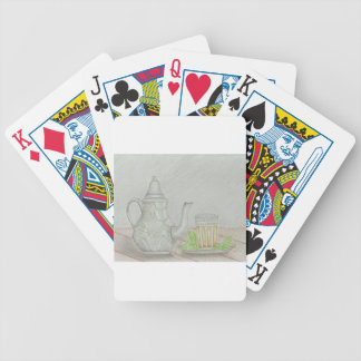 tea with mint bicycle playing cards