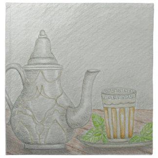 tea with mint napkin