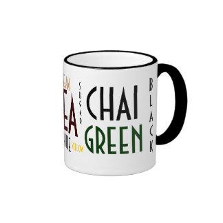 Tea Words Collage Mug
