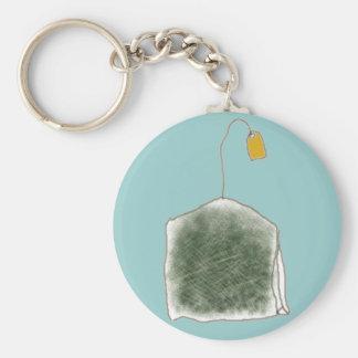 teabag basic round button key ring