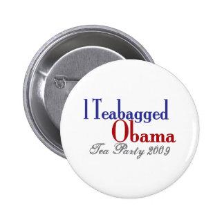 Teabag Obama (Tea Party 2009) 6 Cm Round Badge