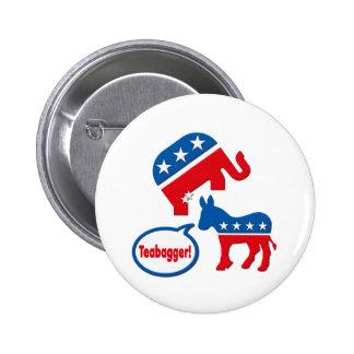 Teabagger Republican Democrat Tea Party Politics 6 Cm Round Badge