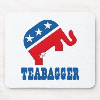 Teabagger Republican Democrat Tea Party Politics Mousepads
