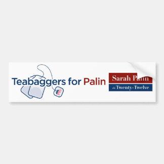 Teabaggers for Palin Bumper Sticker