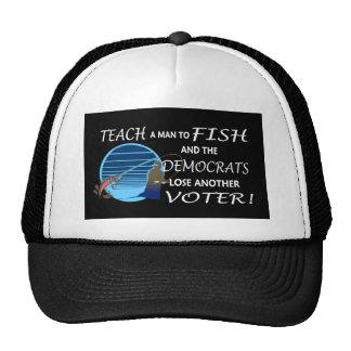 teach a man to fish mesh hats