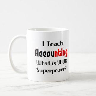 Teach accounting basic white mug