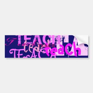 Teach Art In Pink Bumper Sticker