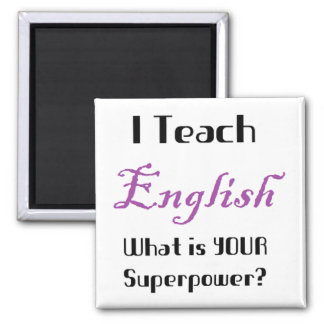 Teach English Square Magnet