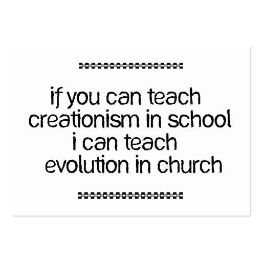 Teach Evolution In Church Business Card Template
