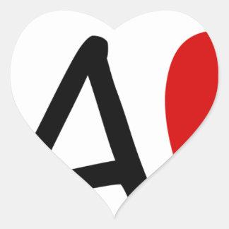 teach heart sticker