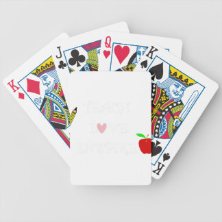 teach love inspire2 bicycle playing cards