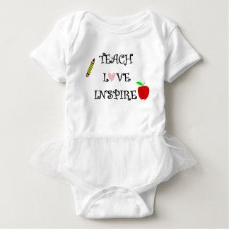 teach love inspire baby bodysuit