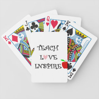teach love inspire bicycle playing cards